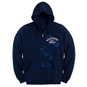 Hooded Zip Fleece Walt Disney World Mickey Mouse Jacket for Women -- Navy