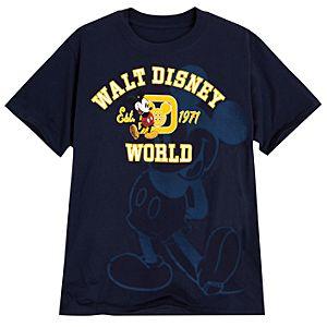 Mickey Mouse Walt Disney World Resort Tee for Men -- Navy