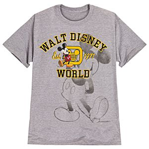 Mickey Mouse Walt Disney World Resort Tee for Men -- Grey