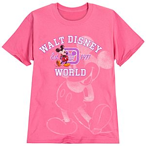 Mickey Mouse Walt Disney World Resort Tee for Women -- Pink
