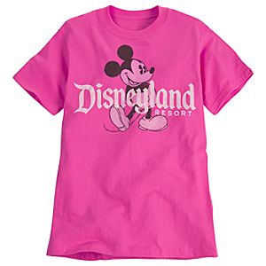 Classic Disneyland Mickey Mouse Tee for Adults -- Pink