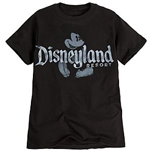 Classic Disneyland Mickey Mouse Tee for Adults -- Black