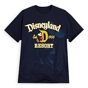 Mickey Mouse Disneyland Resort Tee for Men -- Navy