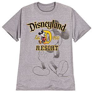 Mickey Mouse Disneyland Resort Tee for Men -- Grey