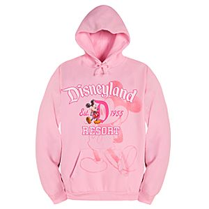 Pullover Fleece Disneyland Mickey Mouse Hoodie for Women -- Pink