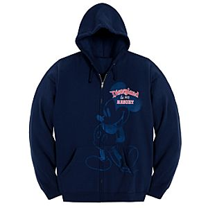 Hooded Zip Fleece Disneyland Mickey Mouse Jacket for Women -- Navy