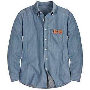 All Aboard Grand Circle Tour Denim Shirt for Men by Jeff Granito