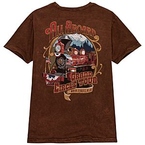 All Aboard Grand Circle Tour Tee for Men by Jeff Granito
