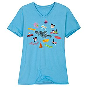V-Neck The Magic Kingdom Tee for Women by SHAG