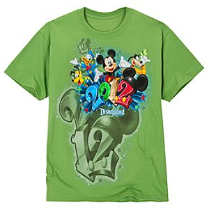 2012 Embossed Foil Disneyland Resort Tee for Adults