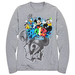 Long Sleeve 2012 Embossed Foil Disneyland Resort Tee for Adults