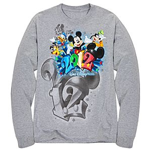 Long Sleeve 2012 Embossed Foil Walt Disney World Resort Tee for Adults