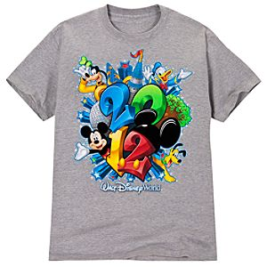 2012 Flocked Walt Disney World Resort Tee for Adults -- Gray