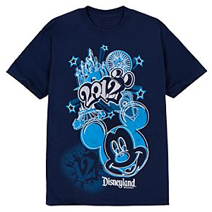 Contemporary 2012 Disneyland Resort Tee for Men