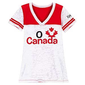 Epcot World Showcase Canada Pavilion O Canada V-Neck Tee for Women