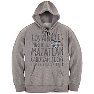 Disney Cruise Line 2012 Mexican Riviera Zip Fleece Hoodie for Men