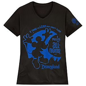 V-Neck One More Disney Day Disneyland Tee for Women