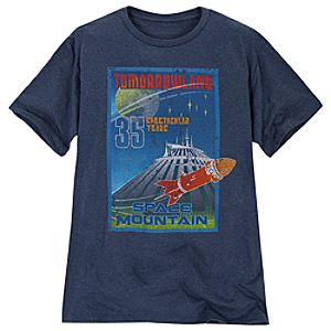Limited Availability 35th Anniversary Disneyland Space Mountain Tee for Adults