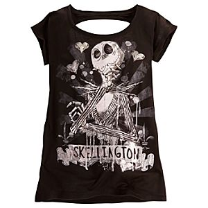 Keyhole Jack Skellington Tee for Women