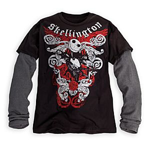 Double-Up Long Sleeve Jack Skellington Tee for Men