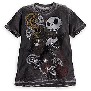 Burnout Jack Skellington Tee for Men