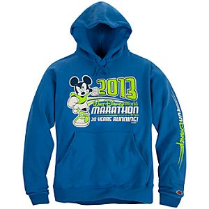 2013 Walt Disney World Marathon Mickey Mouse Fleece Hoodie for Adults by Champion®