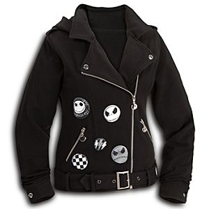 Jack Skellington Fleece Jacket for Women with Removable Hood