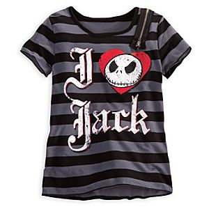 Zipper Jack Skellington Tee for Girls