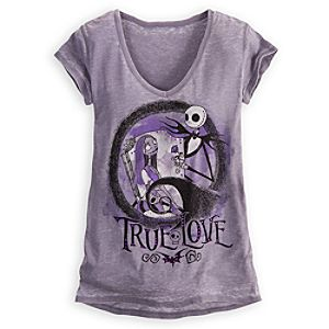 True Love Sally and Jack Skellington Tee for Women