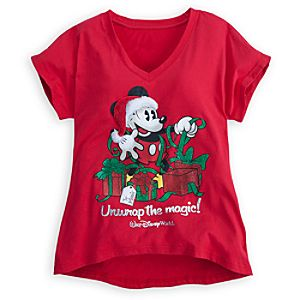 Mickey Mouse Tee for Women - Walt Disney World - Holiday