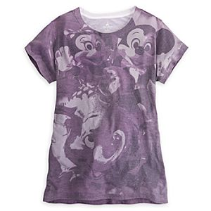 Mickey and Minnie Mouse on Dumbo Tee for Women - Walt Disney World