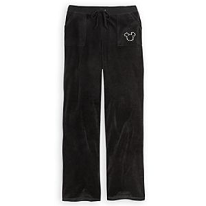 Mickey Mouse Velour Pants for Women