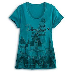 Sleeping Beauty Castle Tee for Women - Disneyland