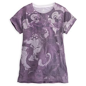 Mickey and Minnie Mouse on Dumbo Tee for Women - Disneyland