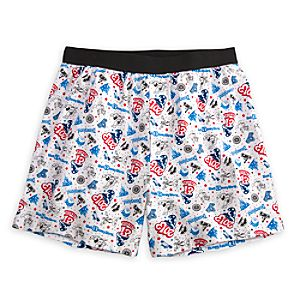 Sorcerer Mickey Mouse Boxer Shorts for Men - Disney Parks 2013