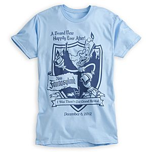 Lumiere Tee for Adults - New Fantasyland Walt Disney World