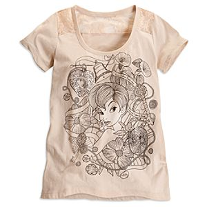 Tinker Bell Sequin and Lace Tee for Women