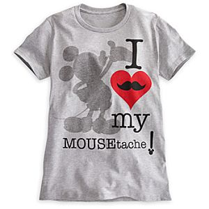 Mickey Mouse ''Mousetache'' Tee for Women