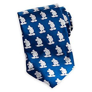 Mickey Mouse Silhouette Tie for Adults