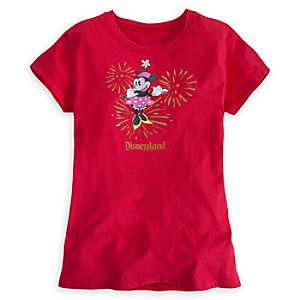 Minnie Mouse Glitter Tee for Women - Disneyland