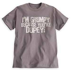 Grumpy Youre Dopey Tee for Adults - Walt Disney World