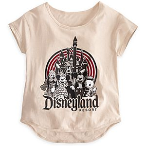Mickey Mouse and Friends Tee for Women - Disneyland