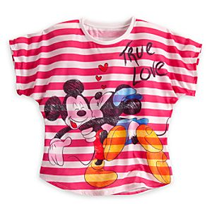 Minnie and Mickey Mouse True Love Tee for Women