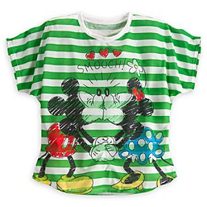 Minnie and Mickey Mouse Smooch Tee for Women