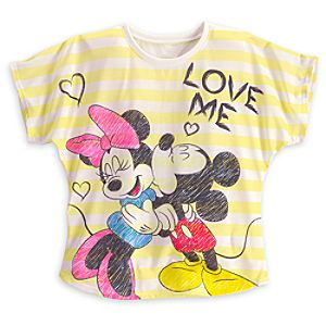 Minnie and Mickey Mouse Love Me Tee for Women