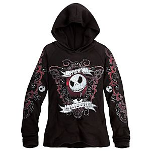 Jack Skellington Hoodie Top for Women
