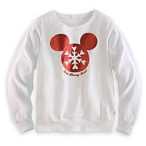 Mickey Mouse Snowflake Long Sleeve Tee for Women - Walt Disney World
