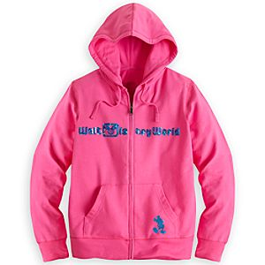 Walt Disney World Sequined Hoodie for Women - Pink