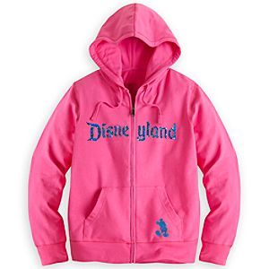 Disneyland Sequined Hoodie for Women - Pink