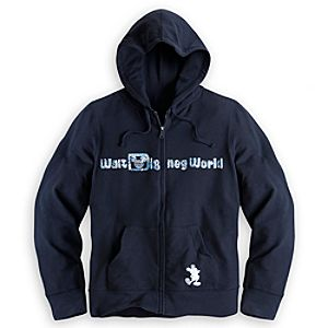 Walt Disney World Sequined Hoodie for Women – Black